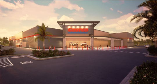 Rendering of a proposed Costco warehouse on Kanner Highway in Stuart.