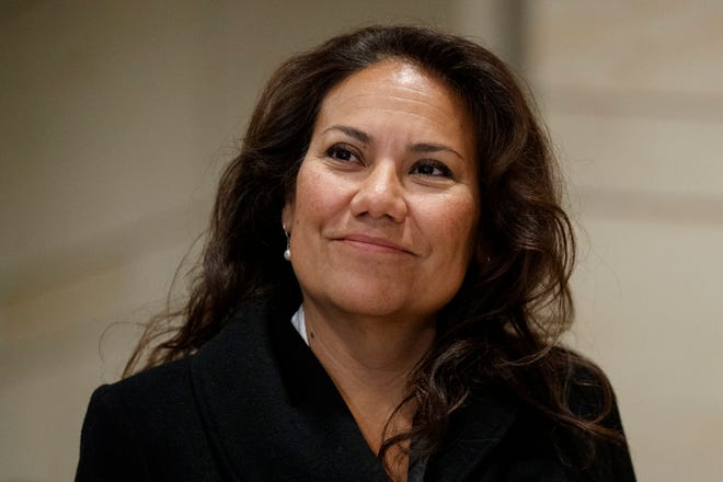 U.S. Rep.-elect Veronica Escobar, D-El Paso, walks from member-elect briefings on Capitol Hill in Washington, D.C., on Thursday, Nov. 15, 2018.