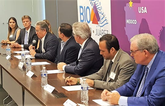 Julio Chiu, first board chairman for BIO El Paso-Juarez Inc., speaks at the new, binational group's launch Nov. 8.