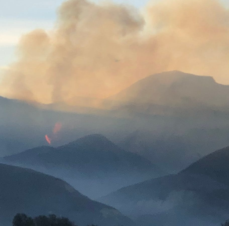 Briggs Fire reaches 75 to 100 acres east of Santa Paula