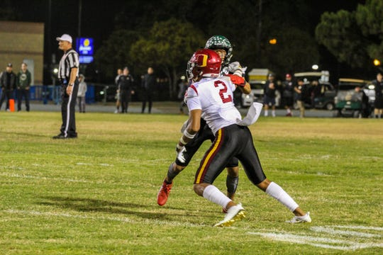 Oxnard's Dom Brown (2) is one of the big reasons the Yellowjackets have made the CIF-SS Division 6 semifinals.