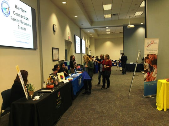 Businesses and agencies that provide services to individuals with special needs in Ventura County attend the Ventura County Annual Transition Fair on Wednesday at the Ventura County Office of Education in Camarillo.