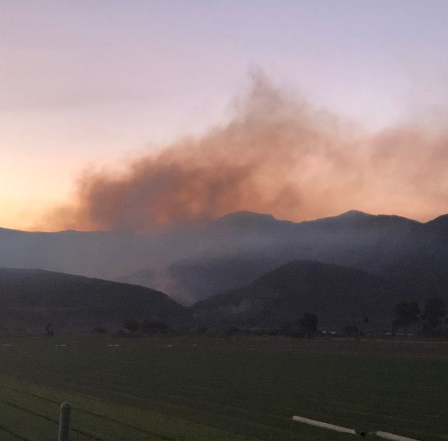 Briggs Fire holds at 50 acres east of Santa Paula; Ventura park closed for fire ops