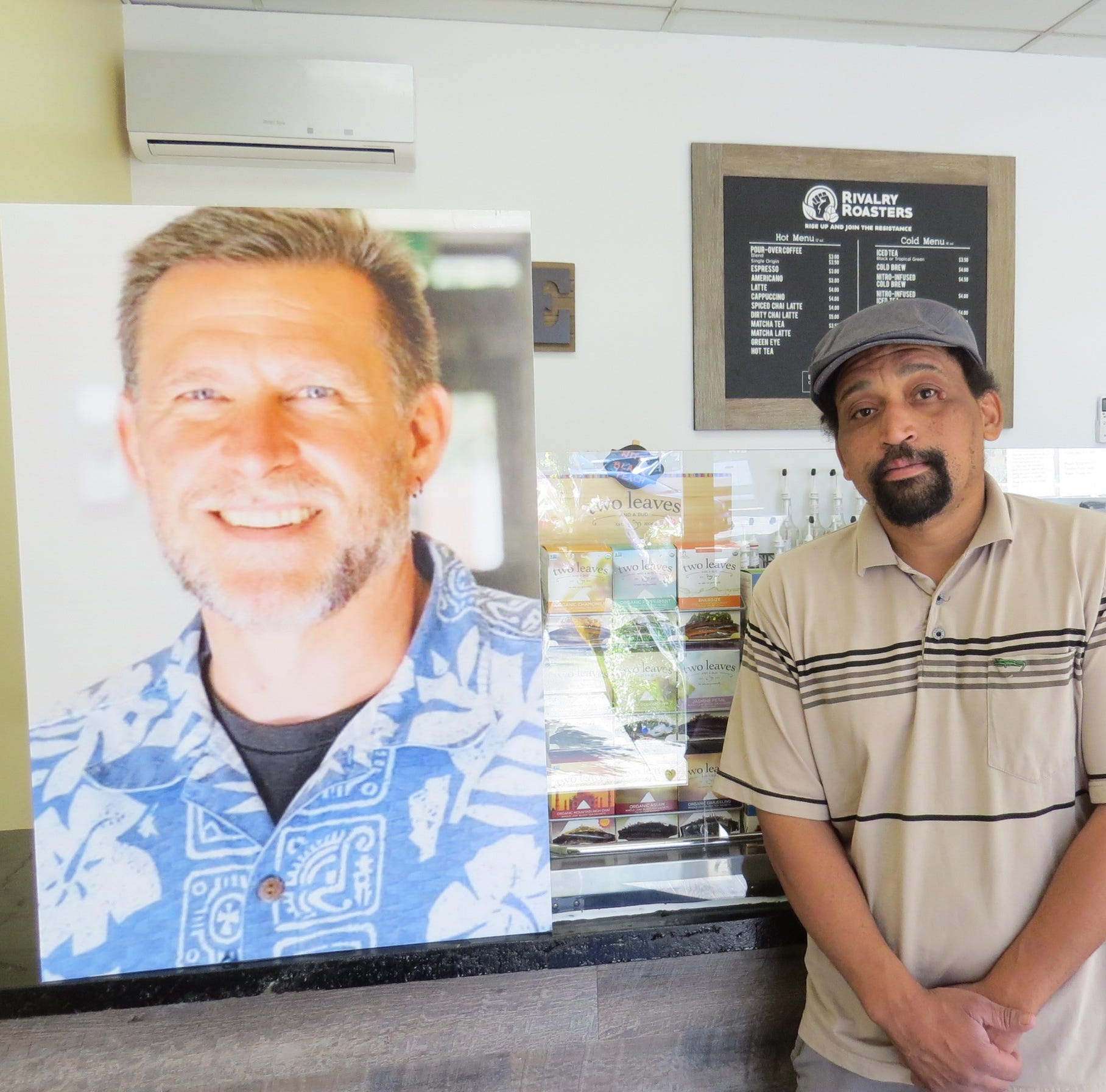 """""""Sean is a good numbers guy. I'm more of a creative type,"""" says Chris Curtis, who partnered with Borderline shooting victim Sean Adler last year to open Rivalry Roasters in Simi Valley. The business is continuing its wholesale operations. Curtis isn't sure when, or if, its retail space will reopen to the public."""