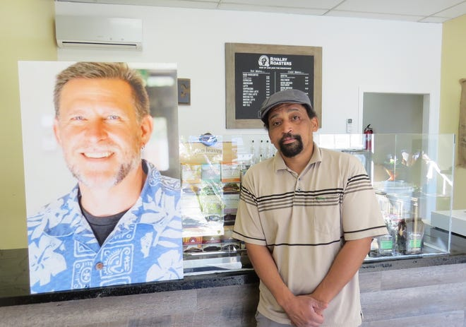 """""""Sean is a good numbers guy. I'm more of a creative type,"""" says Chris Curtis, speaking in the present tense about business partner Sean Adler, who was killed during the Nov. 7 shooting at Borderline Bar & Grill in Thousand Oaks. The men opened the coffee business Rivalry Roasters last year in Simi Valley. Curtis is continuing its wholesale operations but isn't sure when, or if, its retail space will reopen to the public."""