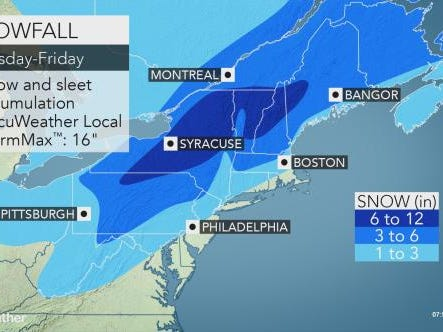 Snowstorm expected to bring 1-4 inches to Lower Hudson Valley