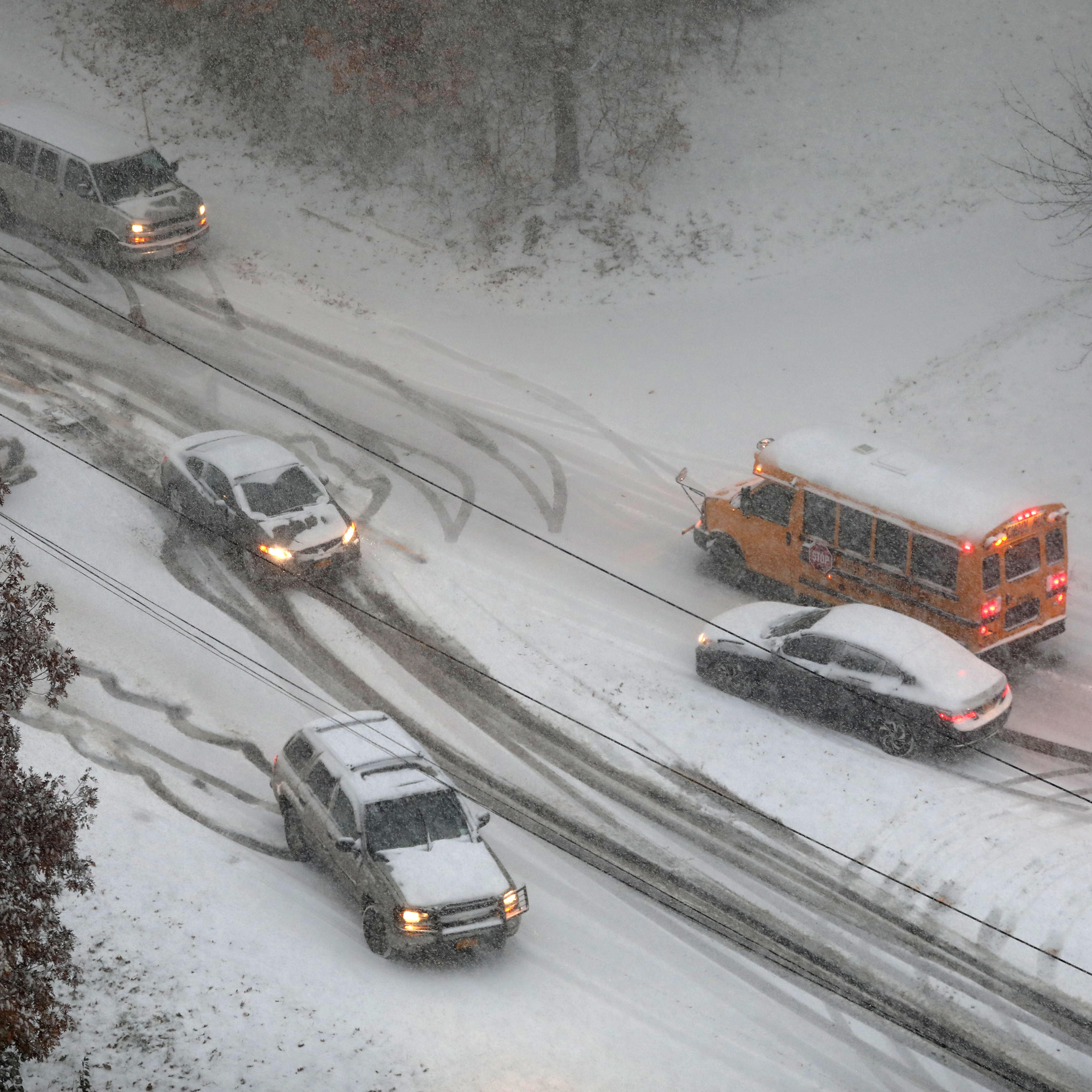 What happened when school buses got caught in the worst commute ever