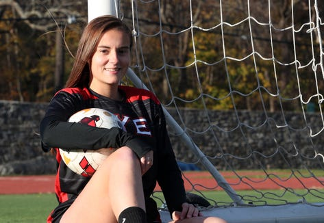 Rye's Sara DeGraw is the Journal News/lohud.com girls soccer player of the year, she is photographed at Rye High School Nov. 14, 2018.