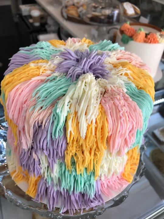 The Crazy Hair Cake from The Snackery Bake Shop in Larchmont.
