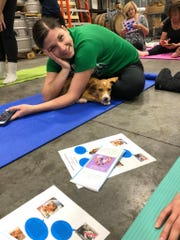 Doggy Noses & Yoga Poses hosts an event at Black Flag Brewing Company in Columbia, Maryland earlier this month.