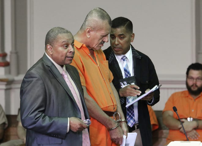 Mexico native, Ernesto Lopez speaks with an interpreter while in court this week. Lopez will be deported after serving his prison sentence for a drug conviction.
