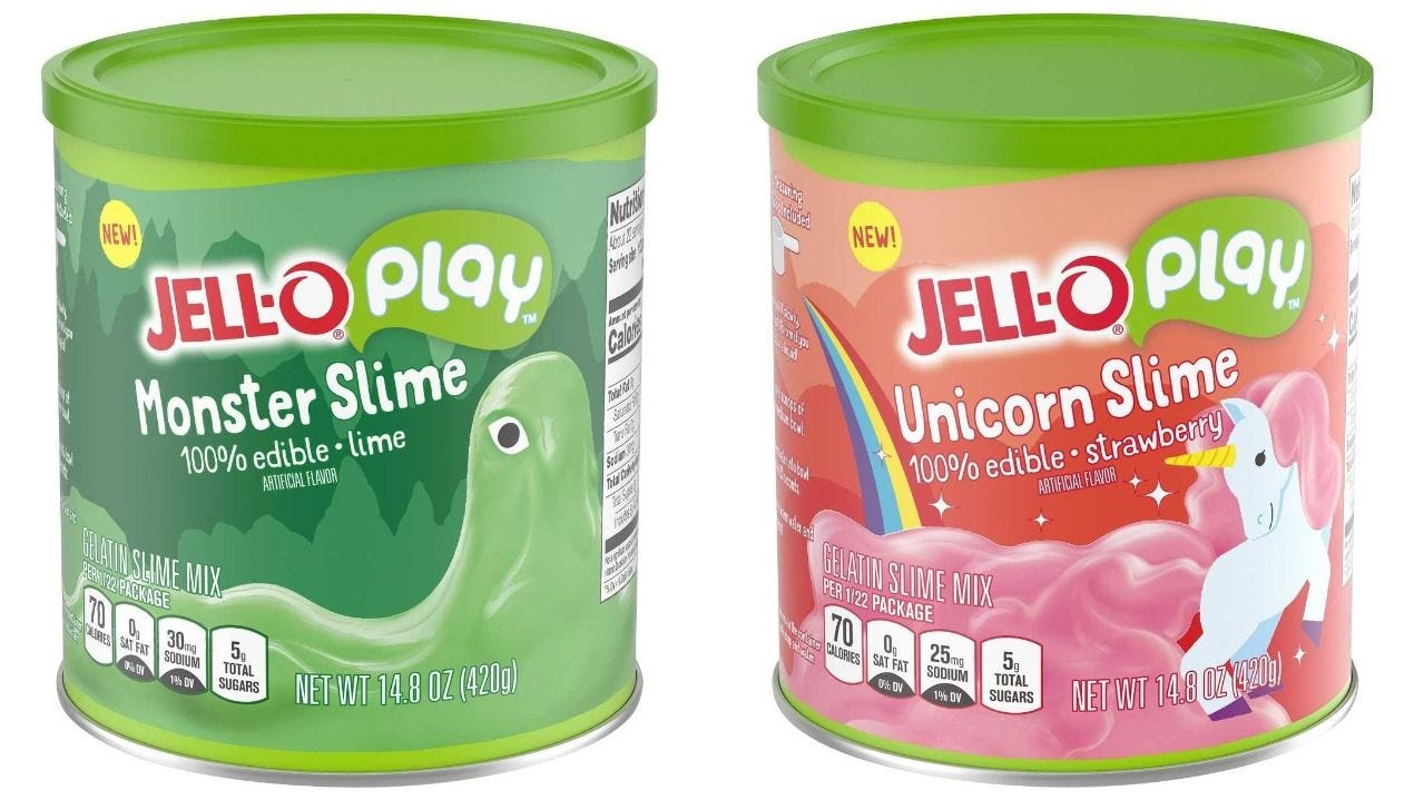 It's a toy! It's a food, sort of. Jell-O introduces Jell-O Play in June.