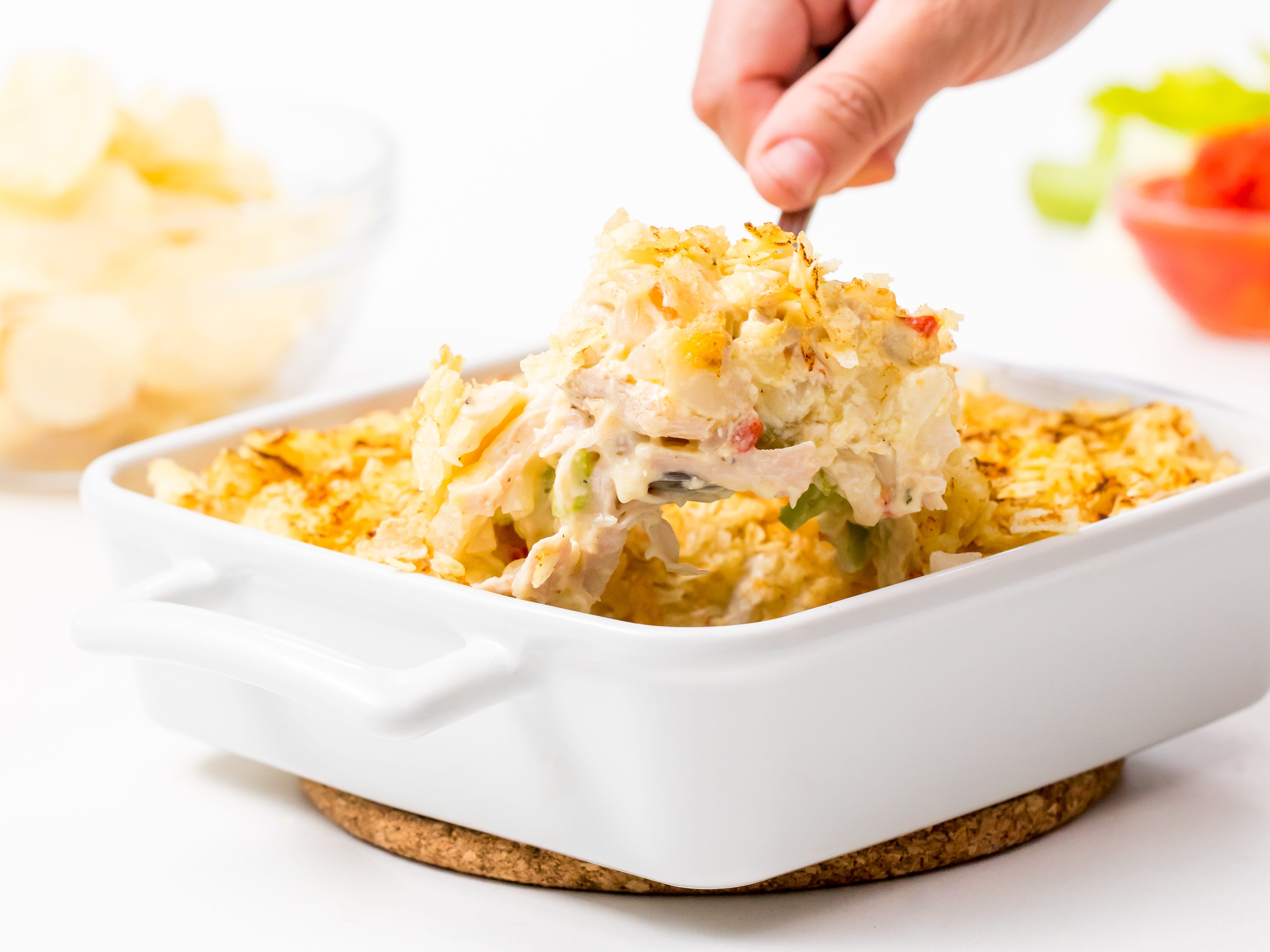 YouÕve roasted a beautiful turkey and enjoyed it the traditional way, with gravy, stuffing, mashed potatoes, the works. Great! Now itÕs time to get creative with all the leftovers. This leftover turkey casserole, inspired by Genius Kitchen, is a delicious start.