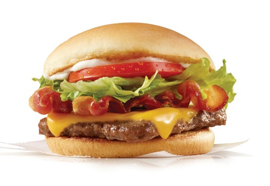 Wendy's bacon cheeseburger