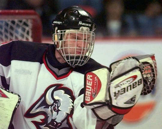 Buffalo goalie Dominik Hasek once stopped 70 shots without allowing a goal in a quadruple-overtime NHL playoff game.