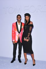Christian Combs and their mother Kim Porter attended the Tom Ford Girls Show during New York Fashion Week on February 8.