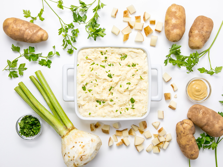 Potato and celery root mash