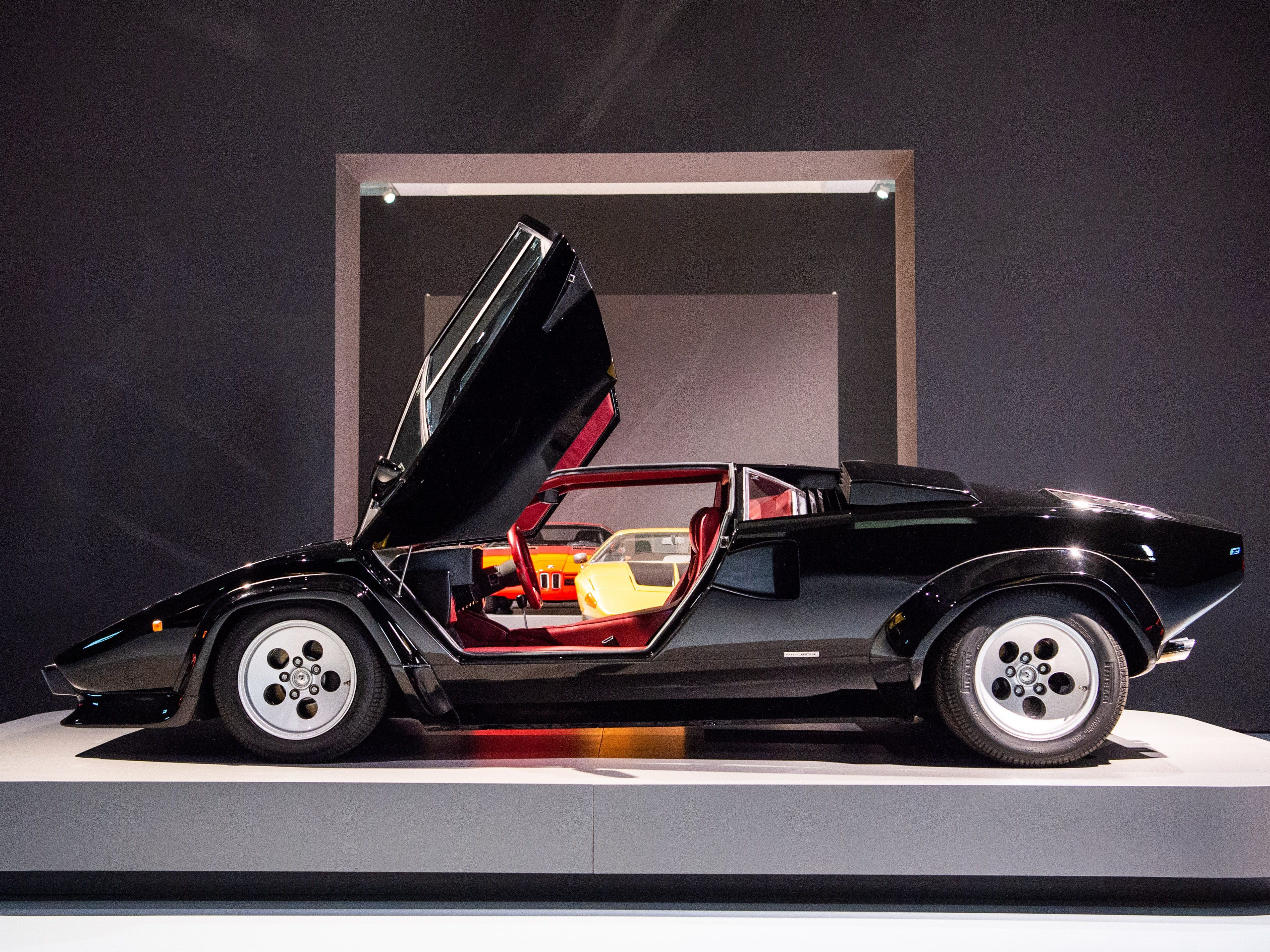 A Lamborghini Countach 5000 QV is on display at the Museum Kunstpalast in Duesseldorf, Germany, on Sept.26, 2018.