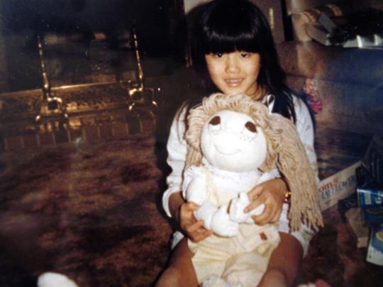 Janine Dzyubanny as a kid.