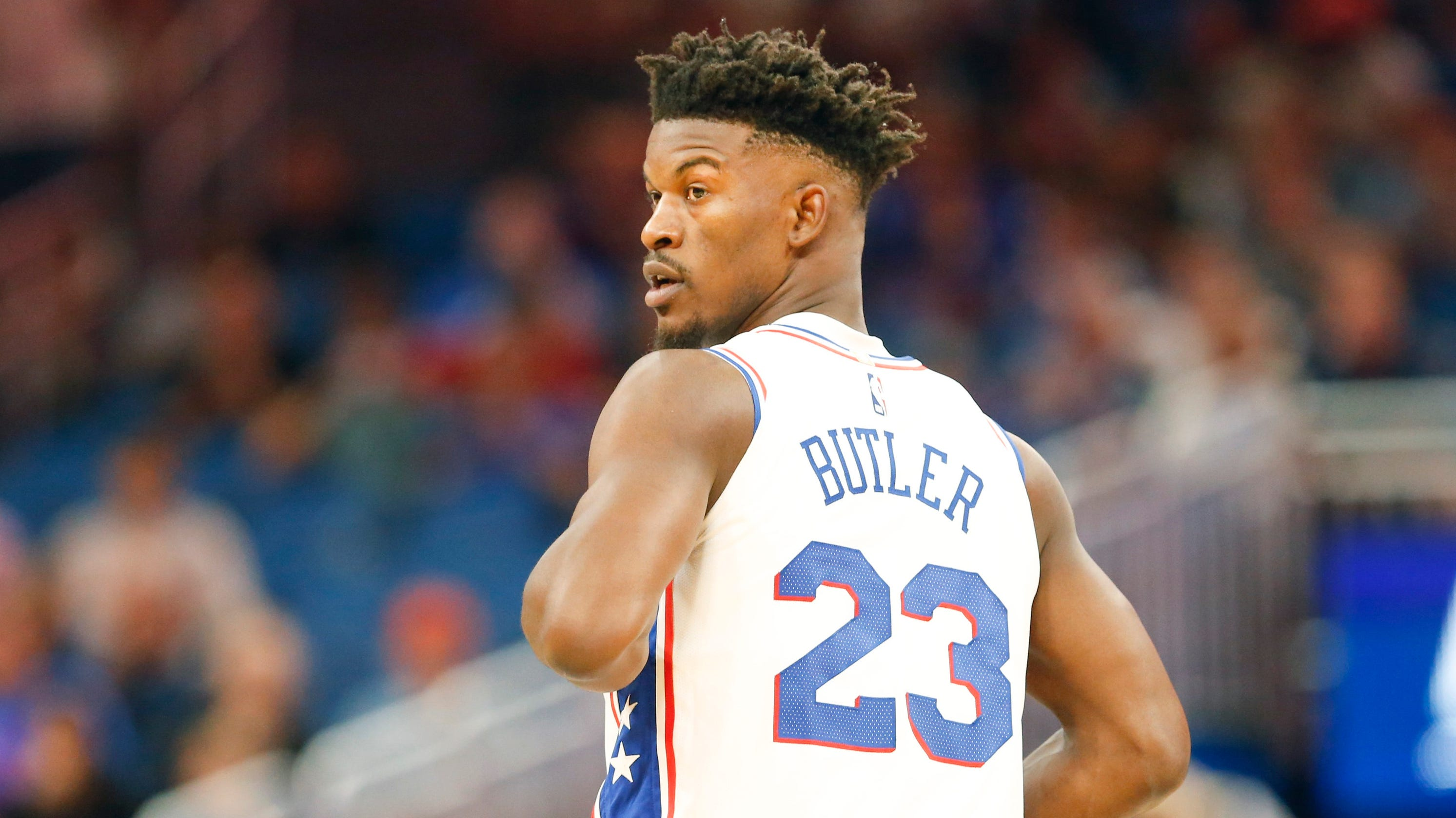 size 40 dec29 7f358 Jimmy Butler debut: 76ers blow 16-point lead in loss to Magic