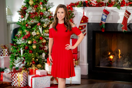 "Lacey Chabert stars in the Hallmark Channel holiday movie ""Pride, Prejudice and Mistletoe."""