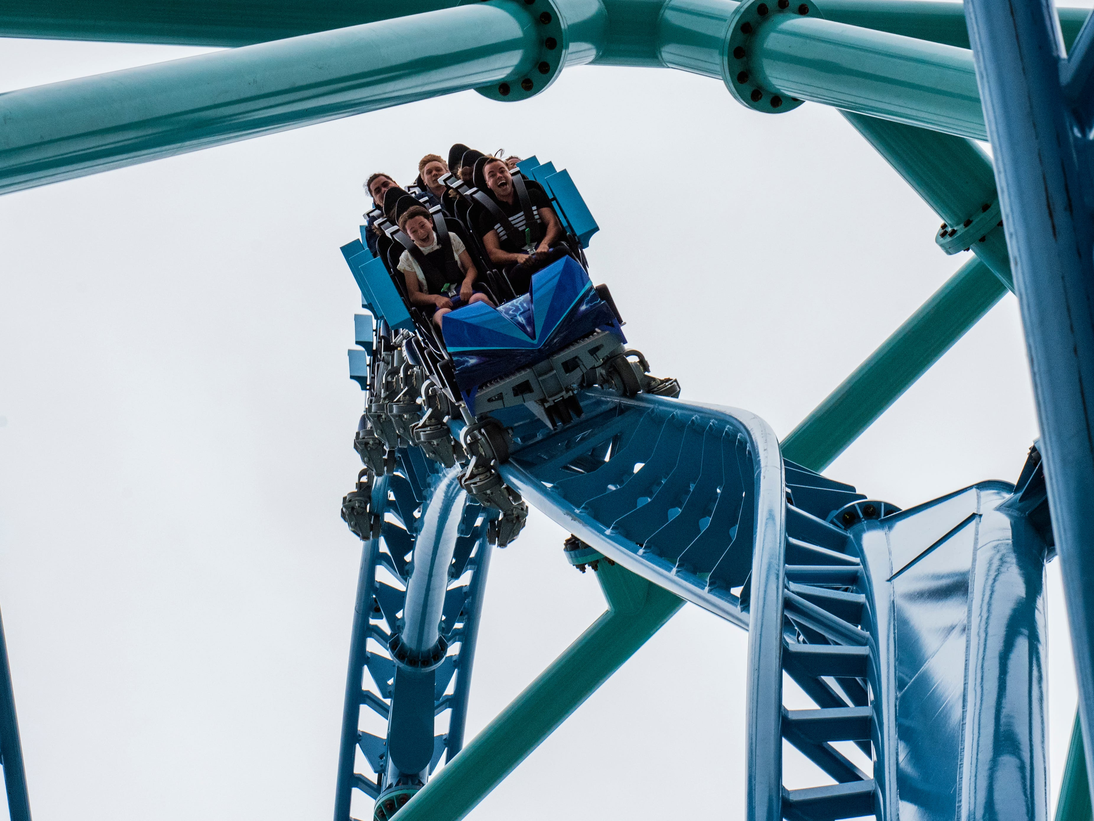 SeaWorld San Diego's new Electric Eel roller coaster opened in 2018.