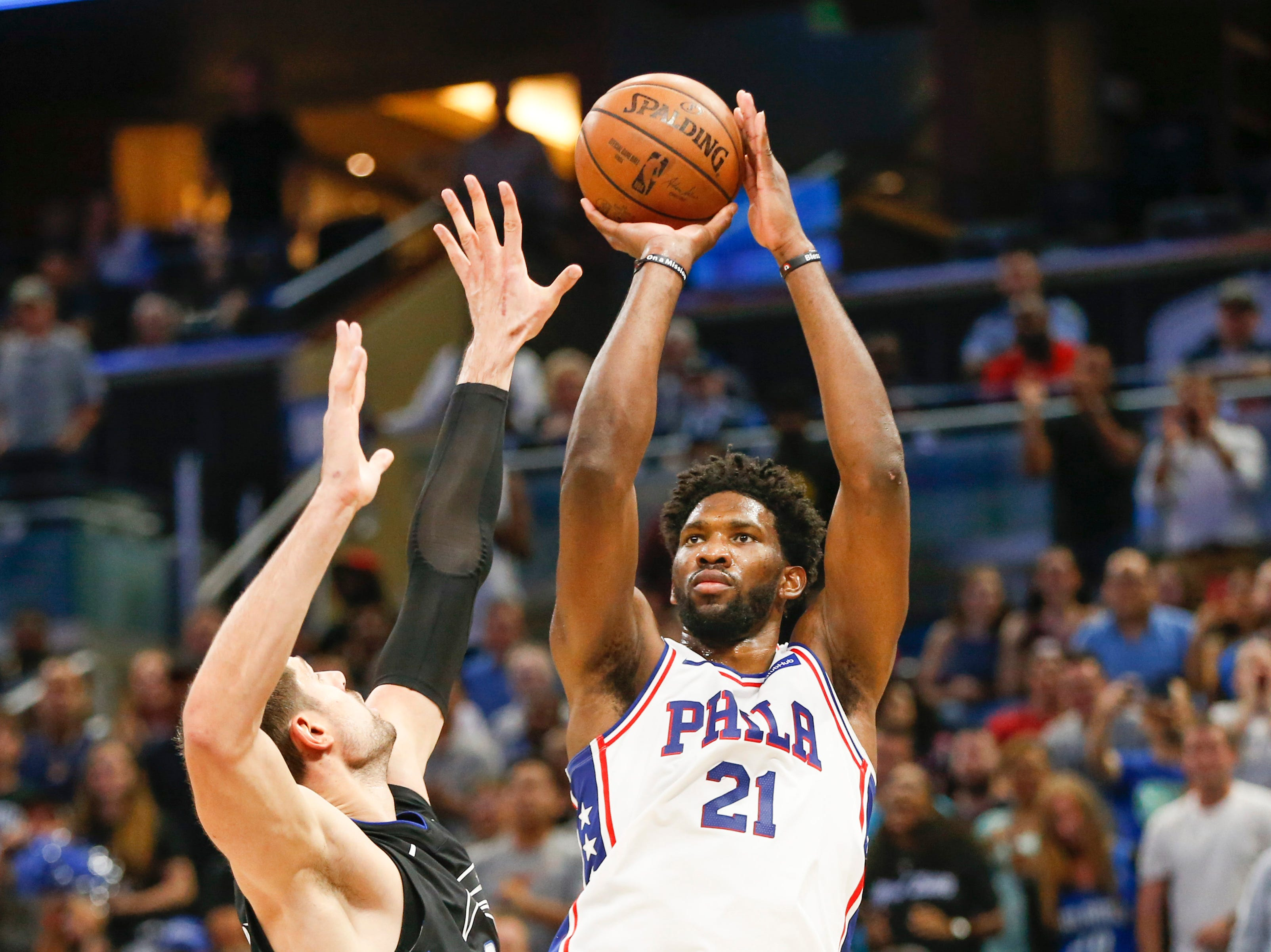 11. Joel Embiid, 76ers (Nov. 14): 19 points, 13 rebounds and 10 assists in 111-106 loss to Magic.