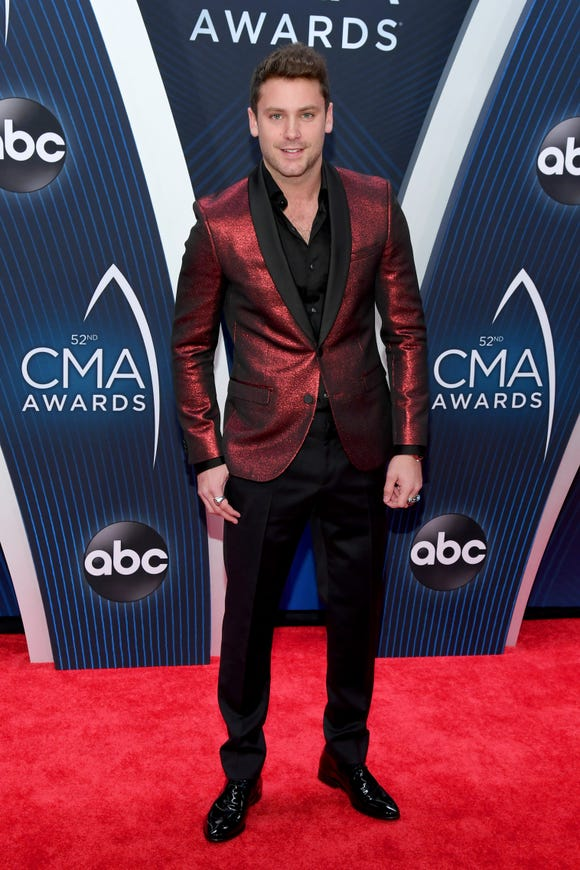 Bastian Baker attends the 52nd annual CMA Awards at the Bridgestone Arena on November 14, 2018 in Nashville, Tennessee.