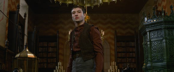 Credence Barebone (Ezra Miller) received some big news about his familial ties.