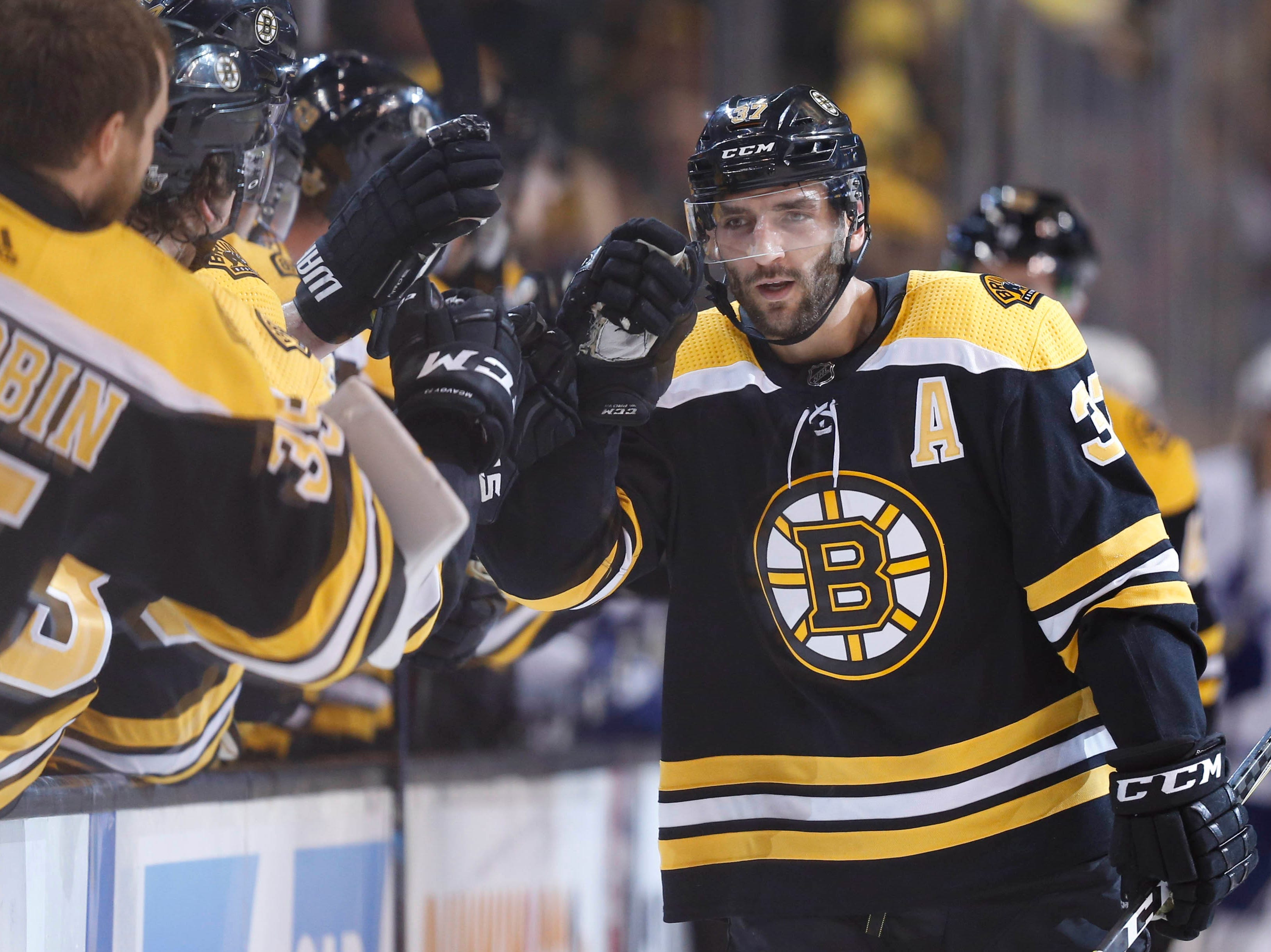 37. Patrice Bergeron (2003 to present). Also: Olaf Kolzig