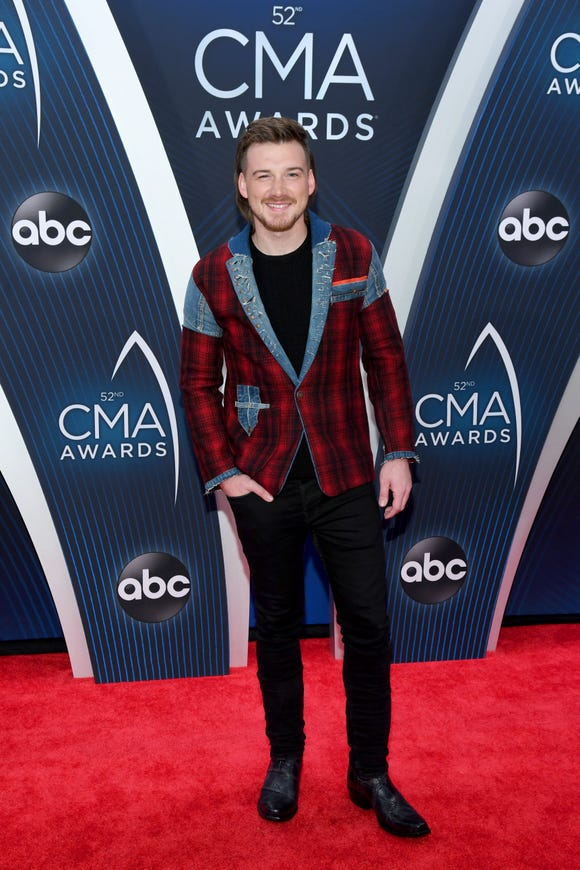 Singer-songwriter Morgan Wallen attends the 52nd annual CMA Awards at the Bridgestone Arena on November 14, 2018 in Nashville, Tennessee.