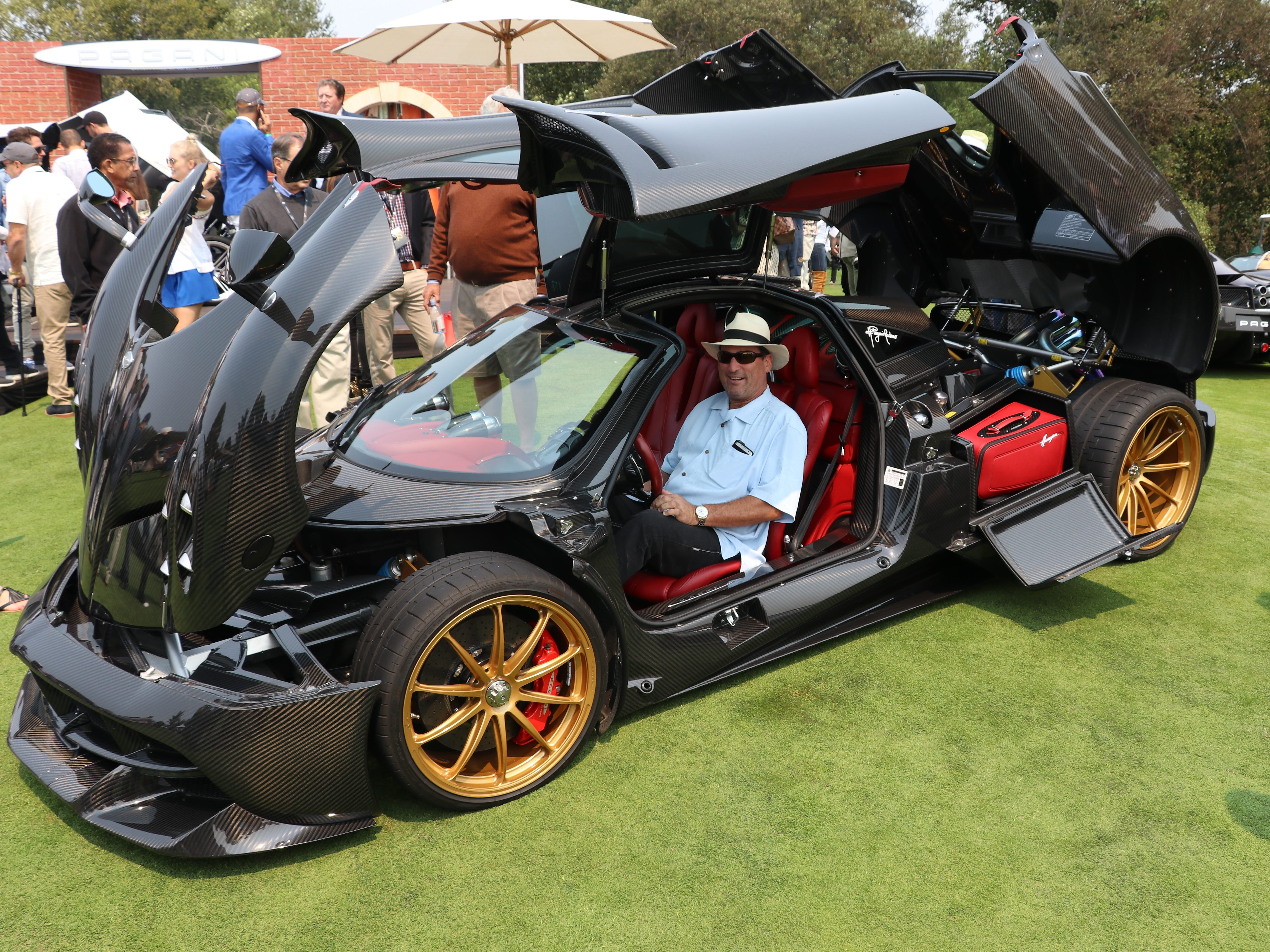 The Pagani Huayra gets a lot of attention at the Quail Motorsports gathering in Carmel Valley, Calif.