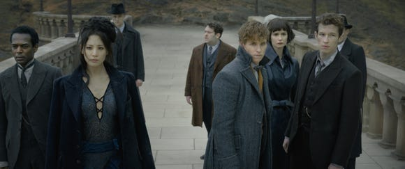 """The good guys convene at Hogwarts to figure out next steps in a wizarding war at the end of the """"Fantastic Beasts"""" sequel."""