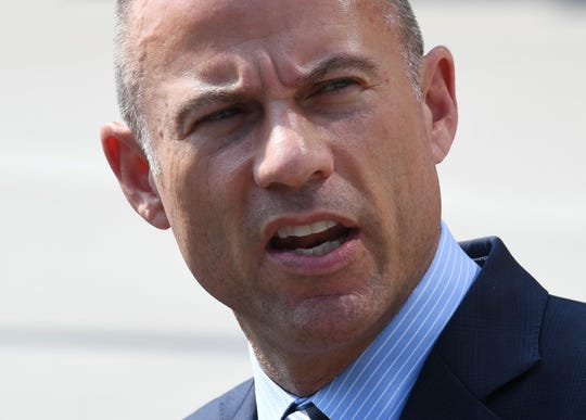 Michael Avenatti speaks to the press on July 27, 2018, in Los Angeles, California.