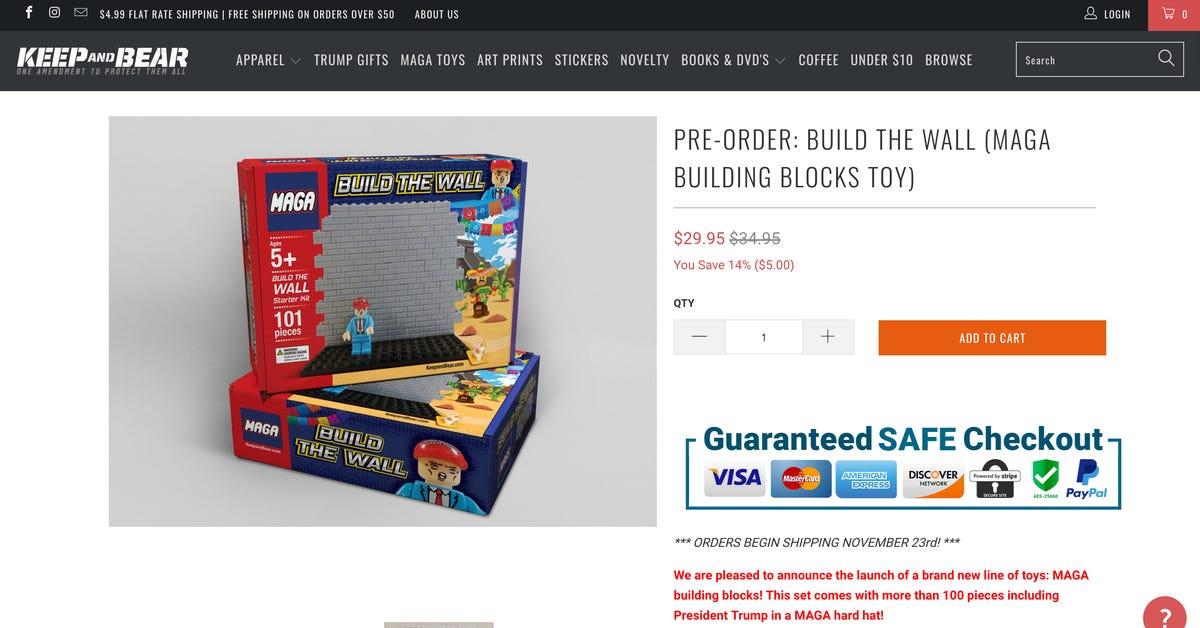 MAGA 'Build the wall' toy looks like LEGO
