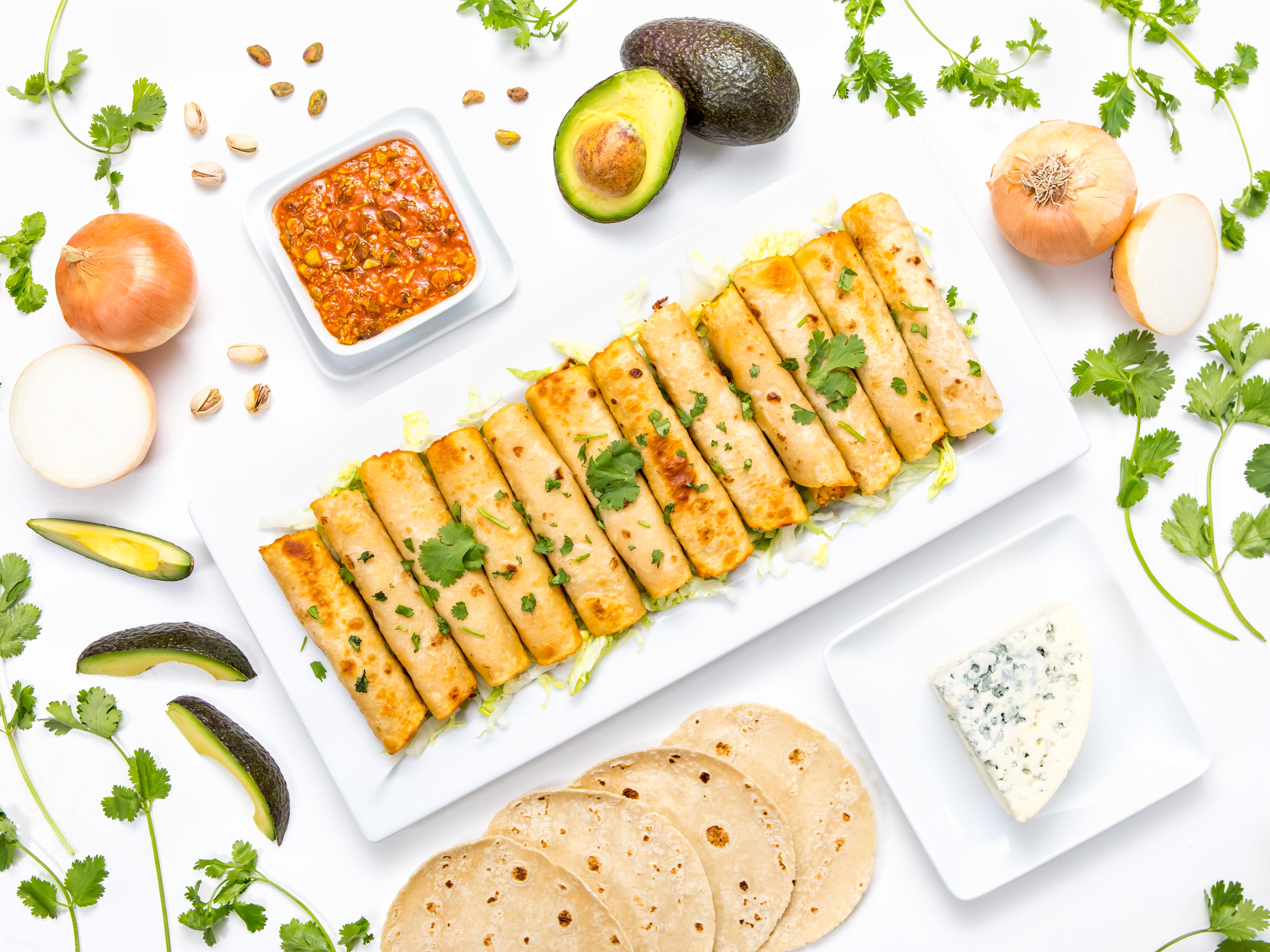 Repurpose that extra turkey with these tasty taquitos. Flavored with Mexican seasoning, the roasted turkey is barely recognizable in these delicious rolled tacos.