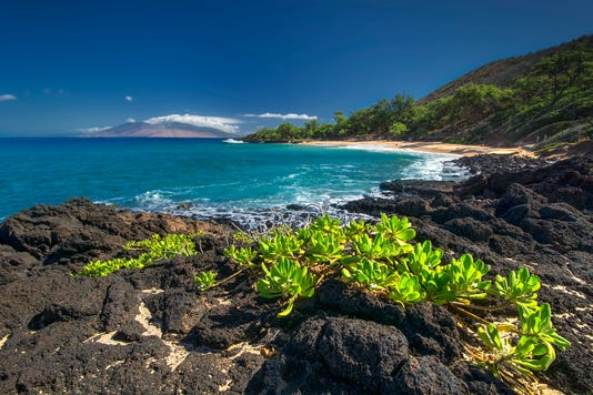 Little Beach In Makena State Park South Maui Hawaii Usa