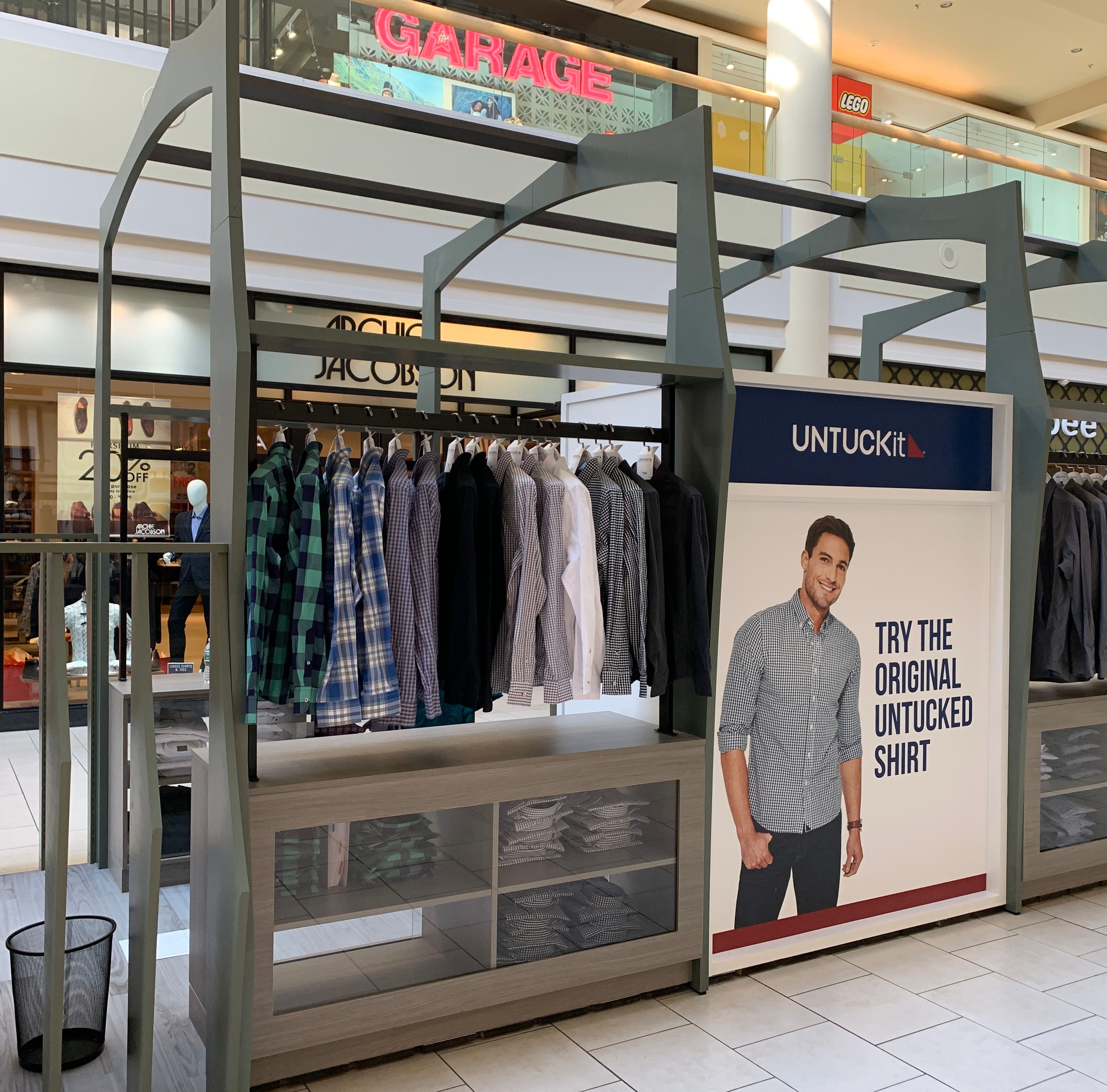 Untuckit opens pop-up kiosk at Freehold Raceway Mall