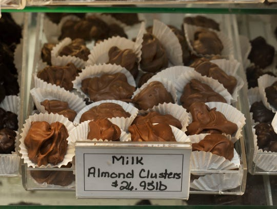 Red Bank Chocolate Shoppe, a Red Bank-based business owned by Amy Berry Healy, which provides a large range of different types of chocolate.