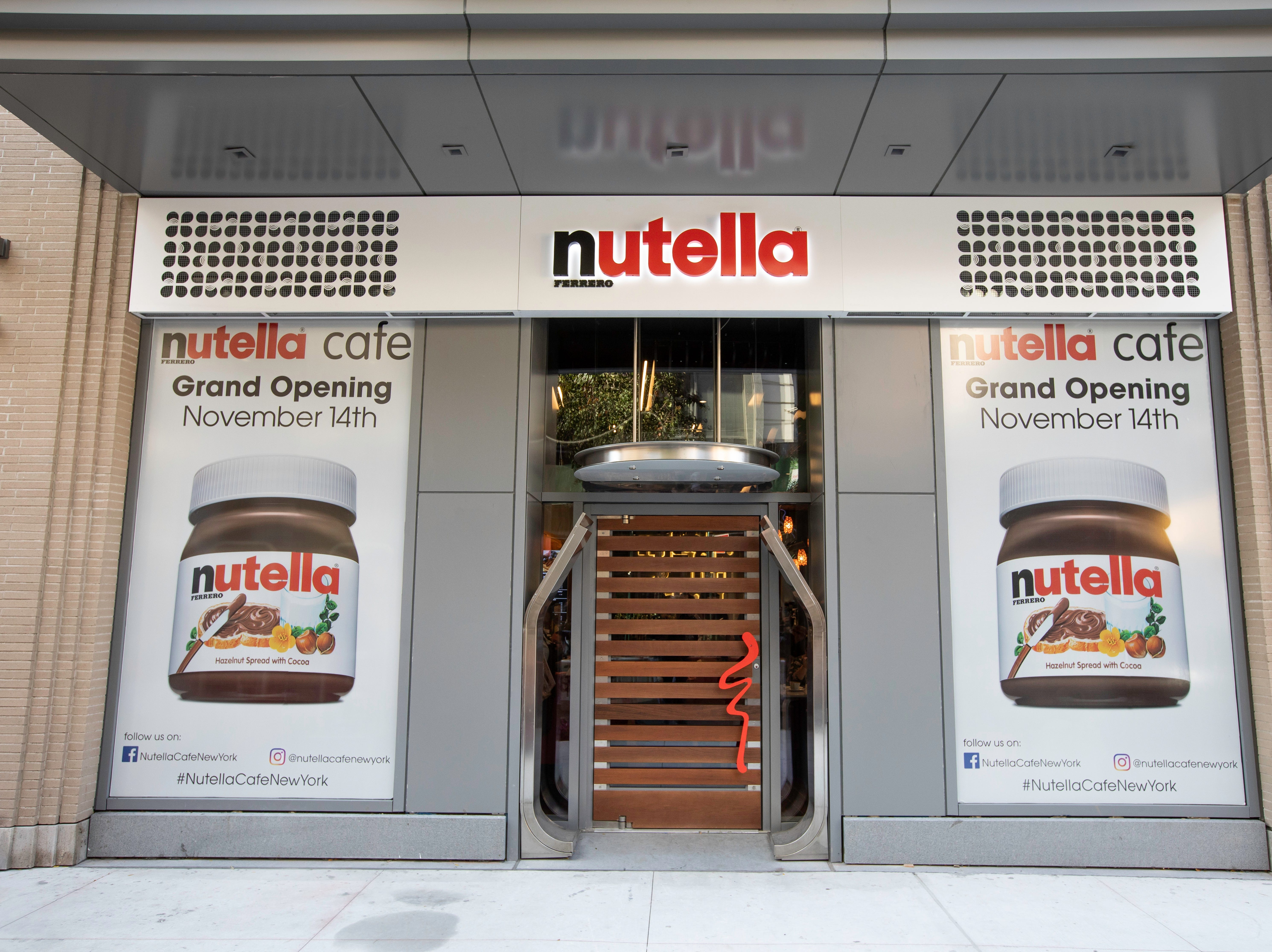 The nation's second Nutella Cafe opened Nov. 14 near Union Square in Manhattan. The first opened in Chicago last year.