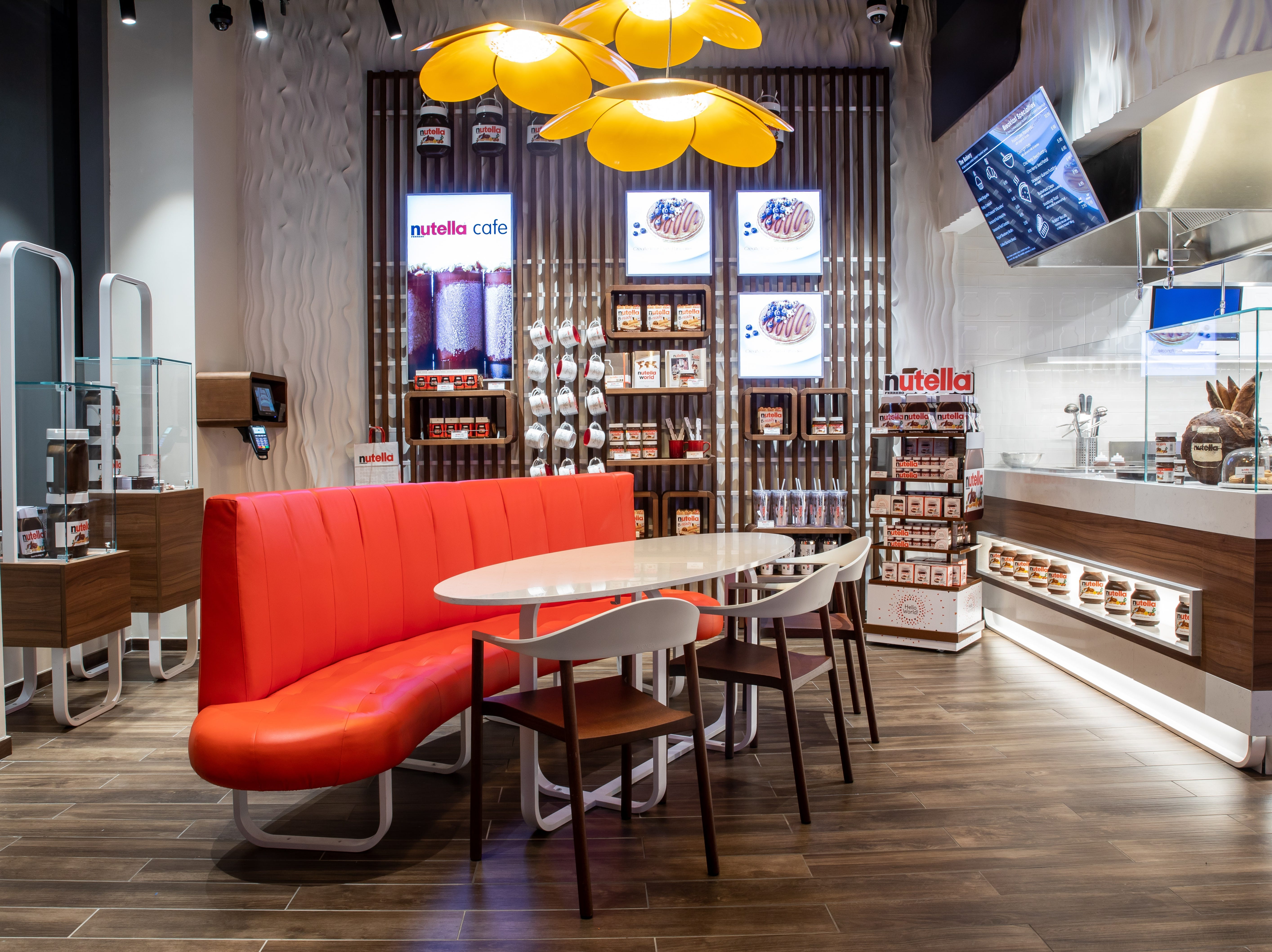 Inside the new Nutella Cafe, which opened Nov. 14 near Union Square in Manhattan.