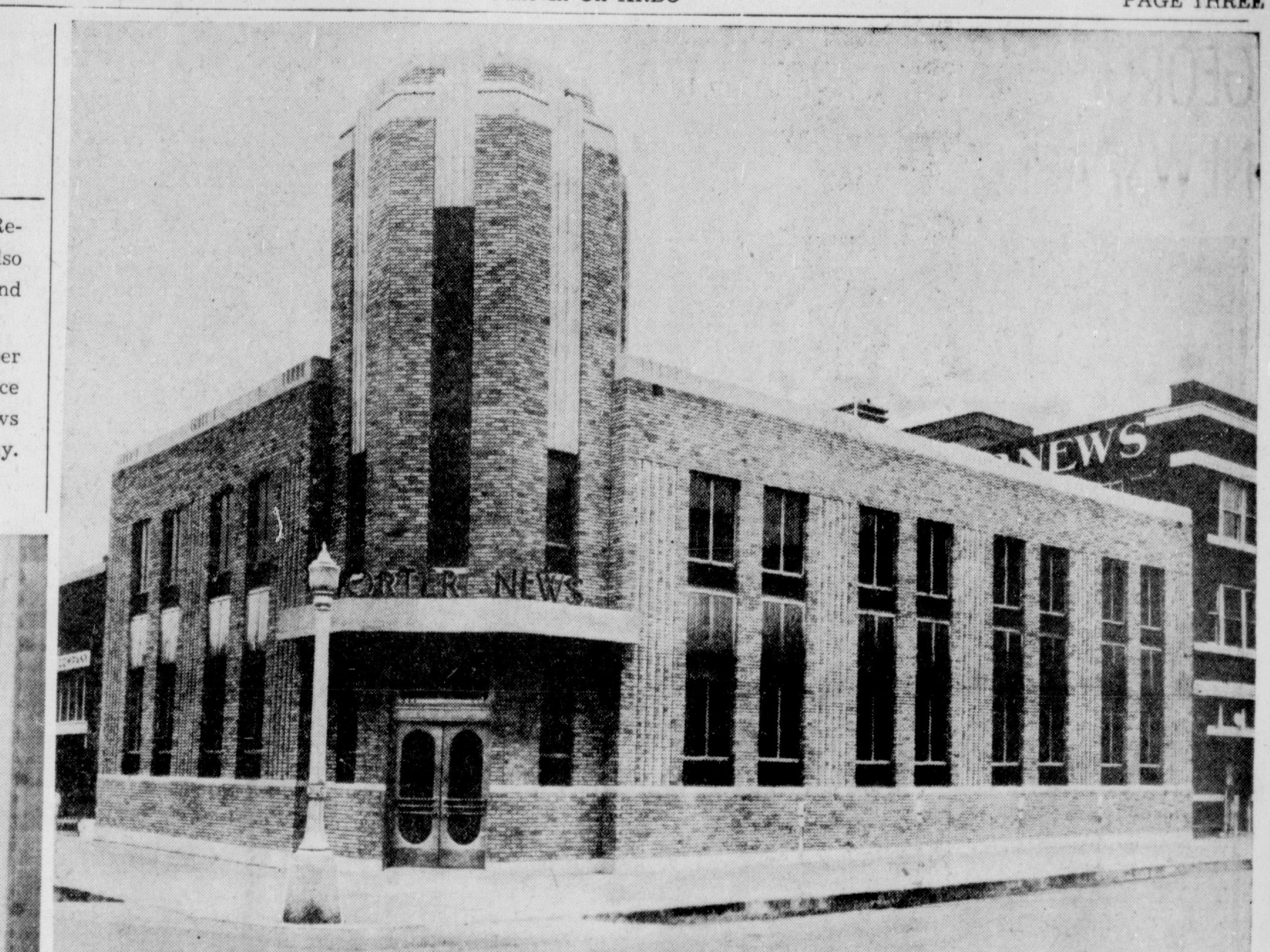 The Abilene Reporter-News building was remodeled extensively in 1940.