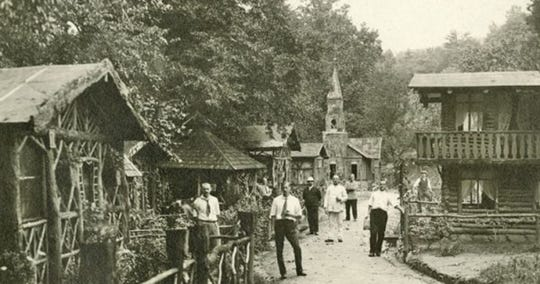 German internees at Hot Springs.