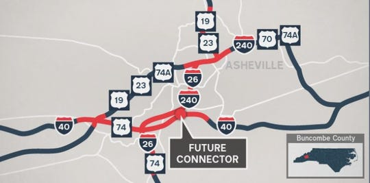 The planned Interstate 26 connector