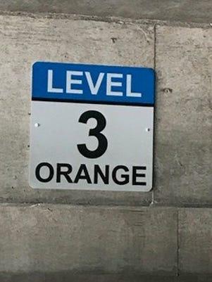 Civic Center Sign Orange