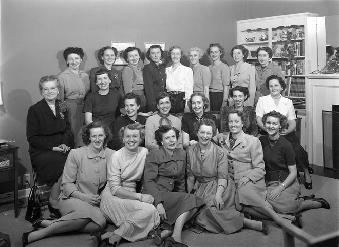 """Twenty one members of a local Delta Chi Sigma Sorority pose with their adviser for a picture in the 1940s. It is a collegiate organization formed in the early 1900s as a """"friendship club"""", and banned with other""""'secret organizations"""" on some campuses in 1915. It was later revived and evolved into a service organization. If you can identify anyone in this photograph, please contact the Kitsap County Historical Society Museum. To see more photos, visit facebook.com/kitsaphistory, kitsapmuseum.org, or stop by the museum at 280 Fourth St. in Bremerton. Call 360-479-6226 for information."""