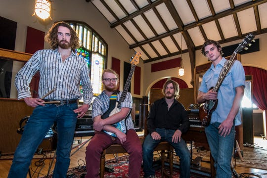 The Travers Brothership, featuring from right to left: Eric Travers, Josh Clark, Ian McIsaac and Kyle Travers, recorded their second full-length album at Echo Mountain Recording Studios in Asheville.