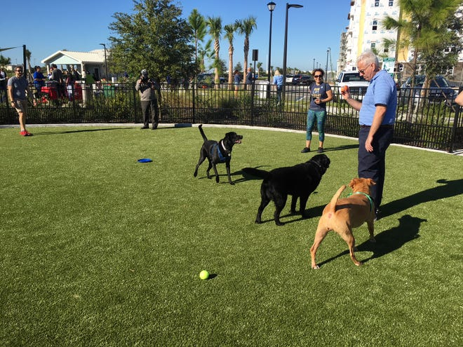 The Viera Town Center Dog Park & Playground at the northwest corner of Colonnade Drive and Rodina Drive officially opened Friday.
