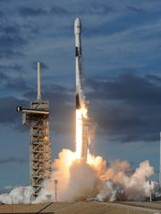A SpaceX Falcon 9 rocket lifts off from Pad 39A at Kennedy Space Center, FL Thursday afternoon, Nov 15, 2018. The rocket is carrying a communications satellite for Qatar.