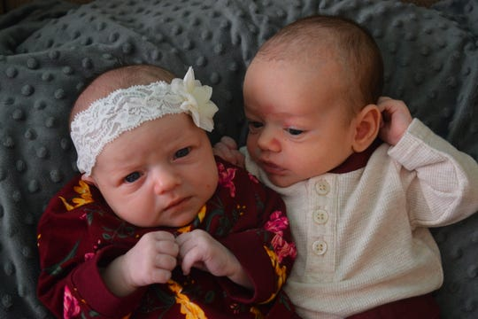 Naomi Perri and her twin sister Natalie Luisi had the same due date for their babies, both were scheduled for October 19th, but Spencer came early on September 26th.  Aaliyah Perri snuggling with her cousin Spencer Luisi.